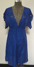 Marks & Spencer electric blue boho dress / tunic - size 8