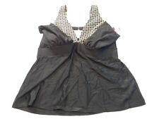 Cacique Lane Bryant Women's Black Gold Tankini Top Swimsuit Size 22 NWT NEW