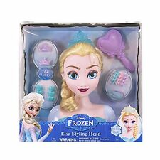 Frozen Elsa Accessories Styling Head Hairdressing Doll Girls Kid  Disney Toy Set