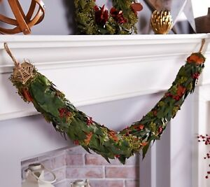"""REAL Preserved Magnolia and Berry 53"""" OVER 4' Garland / Swag by Ellen DeGeneres"""