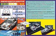 ANEXO DECAL 1/43 LANCIA DELTA S4 M.ALEN RAC 1986 2nd (01)