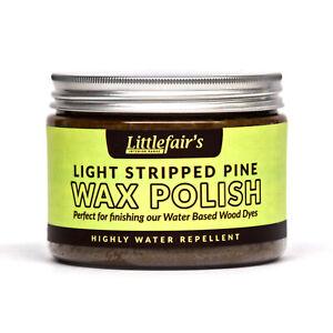 Littlefair's Water Repellent Wax Polish - Light Stripped Pine