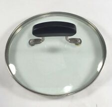 "Glass Pot/Pan Lid, 5 7/16 - 5 7/8"", Black handle, Stainless Steel"
