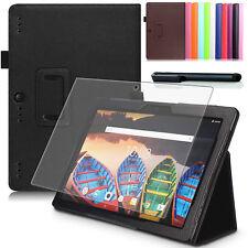 "9H Hartglas Folie+ Tasche f. Lenovo Tab 3 10 Plus 10.1"" TB3-X70F Etui Case -2"