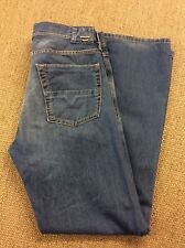 Mens DIESEL W32 L32 Kuratt Blue Denim Jeans Superb