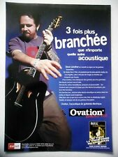 PUBLICITE-ADVERTISING :  Guitare OVATION  09/2001 Steve Lukather,Toto