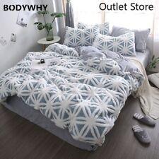 Velveteen Bedding Set Bed Linen Set 3D 4pcs Duvet Cover Flannel Fleece Bedclothe