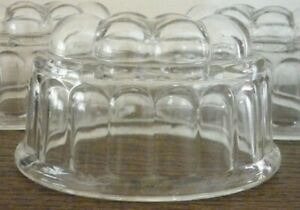 1 x VINTAGE HEAVY GLASS JELLY MOULD BUBBLE BALLOON TOP - ANTIQUE DEPRESSION