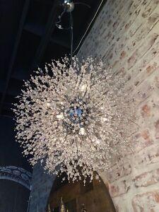 Crystal Chandelier Hanging Ceiling Light Fixture Modern Pendant light for Entry