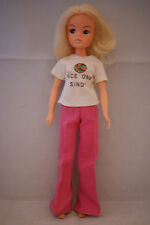 Pedigree SINDY doll bunches blonde hair in MIX N MATCH Nice One outfit 70's