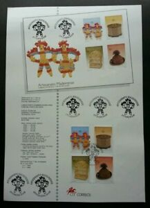[SJ] Portugal Craft Of Wood 1995 Art Toy (stamp on info sheet)