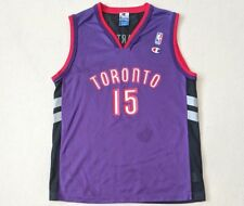 Vtg VINCE CARTER TORONTO RAPTORS JERSEY Youth Large 14-16 CHAMPION PURPLE NBA