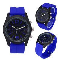 Fashion Mens Watches Unisex Geneva Silicone Analog Quartz Wrist Watches Movement