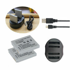 2 Battery +USB Charger for CANON NB-4L Digital IXUS 70 75 80 IS Digi IXUS i Zoom