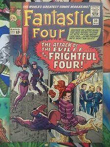 Fantastic Four #36 Sandman app. Intro Frightful Four! KEY BOOK! FN+