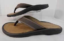 GOTCHA Mens Flip Flops Slides Size 9 Molded Insoles Thong Style Brown, Tan