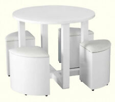 Round Modern Table & Chair Sets with 4 Pieces