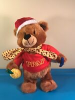 "Gemmy DANCING Christmas Bear Plush Singing ""I have my Pineapple / Pear"" Works!"