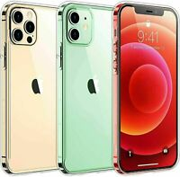 For iPhone 12 11 Pro 6 6s 7 8 Plus X XR XS MAX Mini Shockproof Clear Case Bumper