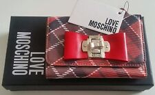 LOVE MOSCHINO PLAID BOW PURSE/WALLET Brand New in Box