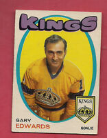1971-72 OPC  # 155 KINGS GARY EDWARDS  GOALIE  ROOKIE  CARD
