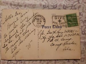 George Washington Green 1 Cent Stamp  Rare 1945 POSTCARD CHATTANOOGA
