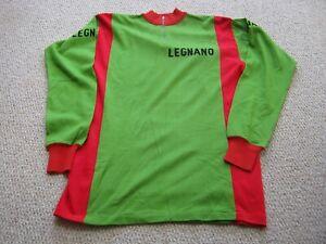 Genuine Unused 1970's LEGNANO acrylic L/S cycling jersey by Sergal Milan Sz 6
