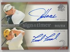 2004 UPPER DECK SP AUTHENTIC GOLF SIGN OF TIMES JAY HAAS FRED FUNK AUTO /250