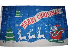 3x5 Merry Christmas Santa Reindeer Sleigh Premium Flag 3'x5' House Banner