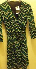 ROBE MULTIPLES Multi couleurs vert green DRESS Femme T 42 / L  - new