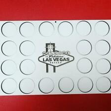 Las Vegas Nevada Poker Chip Display casino Frame for casino chips holds 20 chips