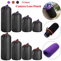 4X Neoprene DSLR Camera Lens Soft Protector Pouch Case Storage Bag Set S M L XL