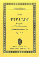 Taschenpartitur ~ Vivaldi : Concerto con Violino Solo obligato  D-Dur Op. 3 No 9