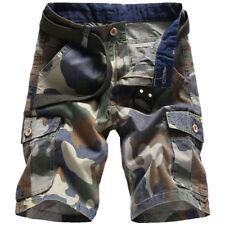 Men's Military Camo Cargo Shorts Casual Work Short Pants Baggy Combat Trousers