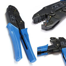 Awg22-10 Insulated Terminals Crimping Plier Ratcheting Crimper Tool Double Crimp