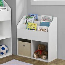 [en.casa] Kinderregal Spielzeugablage Bücherregal Aufbewahrungsregal Heftablage