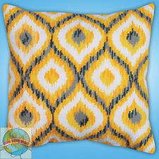 Needlepoint Kit ~ Design Works Yellow Ikat Weave Style Picture / Pillow #DW2558