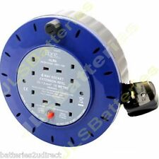 10m Extension Lead Reel 10A 10 Metre 4 Sockets 10 Amp Cable Thermal Cut Out