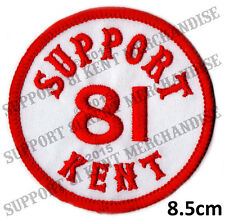 SUPPORT 81 KENT HELLS ANGELS Embroidered Woven Sew On Patch BIG RED MACHINE