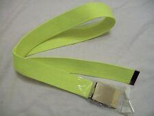 neon yellow web belt with silver buckle approx 42'' long (JJK587.4)