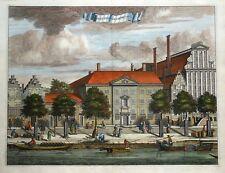 AMSTERDAM, PRINSENGRACHT,Nieuwezijds Huiszittenhuis, Commelin antique print 1693