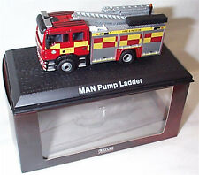Man Pump Ladder Fire Engine 1-76 Scale in case boxed Oxford - Atlas