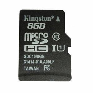 8GB Micro SD Card Kingston Class 10 TF Flash Memory Mini SDHC ADAPTER for Phone