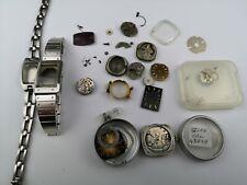 Job Lot Vintage 1970s Era Ladies Seiko Watch Parts, Movements, Cases etc. (D43)