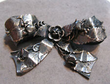 Vintage Legro Sterling Silver Bow Shape Floral Pin