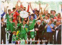 VfL Wolfsburg + Deutscher Fußball Meister 2009 + Fan Big Card Edition F44 +