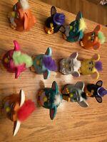 McDonald's Furby 1998 Lot of 12, Plastic  Assorted Colors Furbies