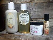 4 Pce Facial Care Kit -Scrub, Vit C Toner, Anti Aging Night Cream, Eye Treatment