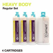 Element HEAVY BODY VPS PVS Impression Material REGULAR Set 4 X 50ML Cartridges
