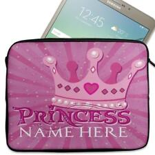 "Personalised Tablet Case PRINCESS Neoprene Sleeve Cover 7"" 8"" 9"" 10"" NS02"